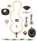 Estate Jewelry:Lots, Multi-Stone, Diamond, Cultured Pearl, Gold, Yellow Metal Jewelry. ... (Total: 12 Items)