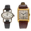 Estate Jewelry:Watches, Gold, Silver Watches. ... (Total: 2 Items)