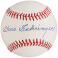 Autographs:Baseballs, Charlie Gehringer Single Signed Baseball.. ...