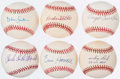 Autographs:Baseballs, Detroit Tigers Single Signed Baseball Lot of 6.. ...