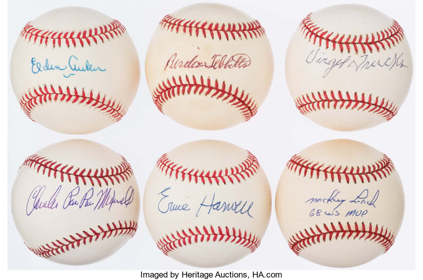 9f4f4e894ee Detroit Tigers Single Signed Baseball Lot of 6.. ... Autographs ...