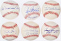 Autographs:Baseballs, Single Signed Nickname Baseball Lot of 6.. ...