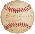 Autographs:Baseballs, 1950 Detroit Tigers Team Signed Baseball (25 Signatures).. ...