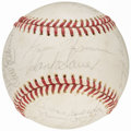 Autographs:Baseballs, Baseball Greats Multi-Signed Baseball (19 Signatures) from theBeans Reardon Collection.. ...