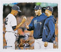 Autographs:Others, Jeter, Pettitte, & Rivera Signed Canvas.. ...