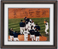Autographs:Photos, 1999 New York Yankees Team Signed Oversized Limited EditionPhotograph (26 Signatures).. ...