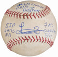 Autographs:Baseballs, 2015 Luis Severino MLB Debut Signed Game Used Baseball.. ...