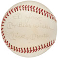 Autographs:Baseballs, 1960-69 Mickey Mantle Single Signed Baseball.. ...