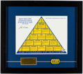 "Autographs:Others, John Wooden Signed ""Pyramid of Success"" with UCLA Pin.. ..."