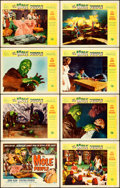 """Movie Posters:Science Fiction, The Mole People (Universal International, 1956). Lobby Card Set of 8 (11"""" X 14"""") Reynold Brown Artwork.. ... (Total: 8 Items)"""