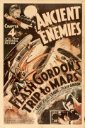 """Movie Posters:Serial, Flash Gordon's Trip to Mars (Universal, 1938). One Sheet (27"""" X41"""") Chapter 4 -- """"Ancient Enemies."""". ..."""