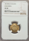 Colombia, Colombia: Ferdinand VII gold Escudo 1814 NR-JF XF40 NGC,...
