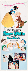 "Movie Posters:Animation, Snow White and the Seven Dwarfs (Buena Vista, R-1967). Insert (14"" X 36""). Animation.. ..."