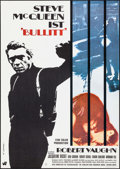 "Movie Posters:Crime, Bullitt (Warner Brothers, 1968). German A1 (23.25"" X 33"") W. ScharlArtwork. Crime.. ..."