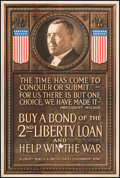"Movie Posters:War, Propaganda Poster (U.S. Government, 1917). World War I Poster (20""X 30"") ""The Time Has Come to Conquer or Submit."" War.. ..."