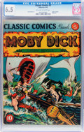 Golden Age (1938-1955):Classics Illustrated, Classic Comics #5 Moby Dick (Gilberton, 1942) CGC FN+ 6.5 Off-whiteto white pages....