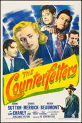 """Movie Posters:Crime, The Counterfeiters (20th Century Fox, 1948). One Sheet (27"""" X 41"""").Crime.. ..."""