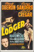 "Movie Posters:Horror, The Lodger (20th Century Fox, 1944). Fine- on Paper. One Sheet (27""X 40.75""). Horror.. ..."