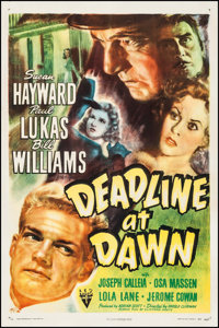 "Deadline at Dawn (RKO, 1946). One Sheet (27"" X 41""). Film Noir"