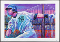 Autographs:Others, 2004 Alex Rodriguez Signed Bill Lopa Limited Edition Giclee Print.....