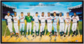 Autographs:Photos, 500 Home Run Club Ron Lewis Signed Lithograph (11 Signatures). ....