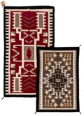 American Indian Art:Weavings, Two Navajo Regional Rugs. c. 1980... (Total: 2 Items)