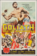 """Movie Posters:Adventure, Goliath and the Barbarians (American International, 1959). One Sheet (27"""" X 41"""") Reynold Brown Artwork. Adventure.. ..."""