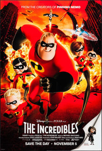 """The Incredibles (Buena Vista, 2004). One Sheet (27"""" X 40"""") DS Advance. Animation"""