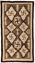 American Indian Art:Weavings, A Navajo Regional Rug. Crystal. c. 1910...