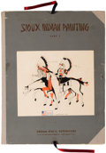 American Indian Art, A Portfolio of Sioux Indian Paintings. c. 1938...