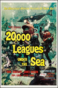 """Movie Posters:Science Fiction, 20,000 Leagues Under the Sea (Buena Vista, R-1963). One Sheet (27""""X 41"""") Style A, Bruce Bushman Artwork. Science Fiction.. ..."""