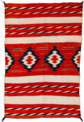Textiles, A Navajo Child's Blanket. c. 1900...