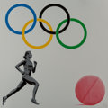 Fine Art - Work on Paper:Print, Pure Evil (Welsh, b. 1968). The New Logo for the Olympic Doping Team, 2016. Screenprint in colors on paper. 28-1/4 x 28-...