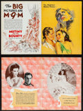 """Movie Posters:Academy Award Winners, Mutiny on the Bounty & Other Lot (MGM, 1935). Trade Ads (2) (4 Pages, 9.25"""" X 12.25""""). Academy Award Winners.. ... (Total: 2 Items)"""