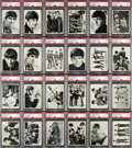 "Non-Sport Cards:Sets, 1964 Topps Beatles Black & White - 1st Series Complete Set (60) - #1 ""All-Time Finest"" on the PSA Set Registry! ..."