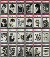 """1964 Topps Beatles Black & White - 1st Series Complete Set (60) - #1 """"All-Time Finest"""" on the PSA Set..."""