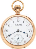Timepieces:Pocket (pre 1900) , Waltham 14k Gold American Watch Co. 19 Jewel Model 88