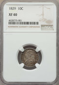 Bust Dimes, 1829 10C XF40 NGC. NGC Census: (10/220). PCGS Population: (1/1).XF40. Mintage 770,000. ...