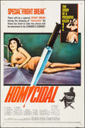 """Movie Posters:Horror, Homicidal (Columbia, 1961) Folded, Very Fine-. One Sheet (27"""" X 41""""). Horror.. ..."""