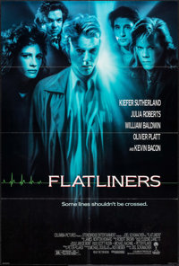 """Flatliners & Other Lot (Columbia, 1990). One Sheets (2) (26.75"""" X 39.75"""" & 27"""" X 41""""). Thril..."""