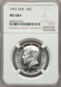SMS Kennedy Half Dollars, 1965 50C SMS MS68 ★ NGC. NGC Census: (0/0 and 0/0*). PCGS Population: (38/0 and 0/0*). Mintage 2,300,000. ...