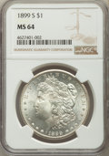 Morgan Dollars: , 1899-S $1 MS64 NGC. NGC Census: (683/189). PCGS Population: (1343/658). CDN: $725 Whsle. Bid for problem-free NGC/PCGS MS64...
