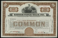 Miscellaneous:Other, Badger Paper Mills, Inc. ABNCo Specimen Stock Certificate.. ...
