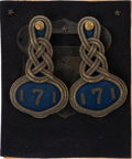 Military & Patriotic:Indian Wars, Lt. James J. Bradley, The First Witness to the Killing Field: His 7th Infantry Shoulder Knots....
