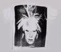 Fine Art - Work on Paper:Print, Andy Warhol (American, 1928-1987). Self-Portrait with FrightWig, circa 1986. Silkscreen in black on (XXL) T-shirt. 33 x...