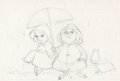 Animation Art:Production Drawing, The Rescuers Bernard and Bianca Production Drawing (WaltDisney, 1977). ...