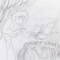 Animation Art:Concept Art, Aladdin Album Cover Concept Drawing (Walt Disney, c. 1990s).... (Total: 2 Items)