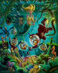 Memorabilia:Disney, Carl Barks The Makings of a Fish Story Signed Limited Edition Lithograph Print #174/345 (Another Rainbow, 1988)....