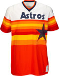 Baseball Collectibles:Uniforms, 1975 J.R. Richard Game Worn Houston Astros Jersey, MEARS A10 -- One Year Style. . ...