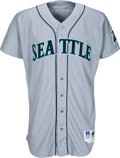 """Baseball Collectibles:Uniforms, 1997 Randy Johnson Game Worn Signed Seattle Mariners Jersey Inscribed """"Game Used 1997"""" with Player Letter, MEARS A10. . ..."""